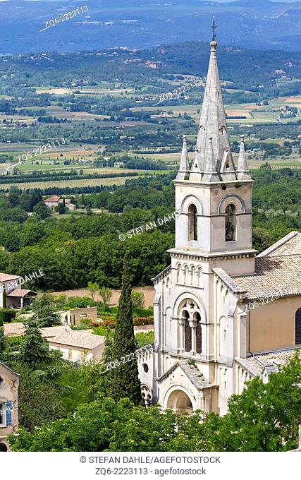 The Church in Bonnieux, Provence, France