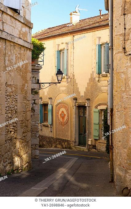 France, Gers (32), town of Lectoure on the way of Saint Jacques de Compostelle, maison des clarinettes