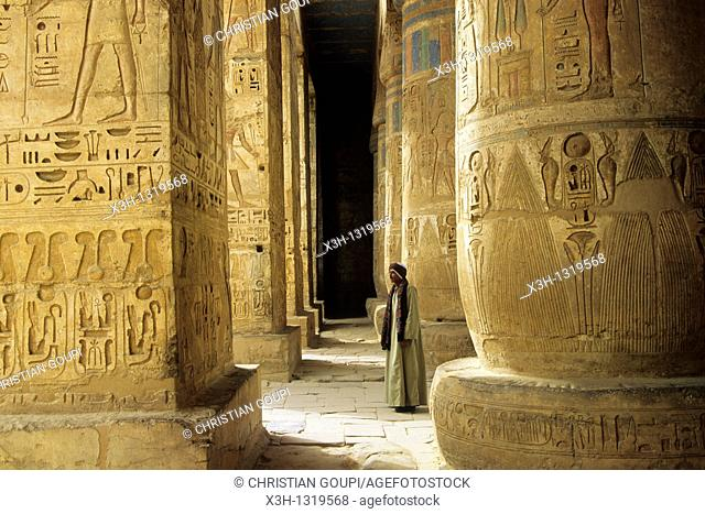 Temple of Ramesses III called Medinet Habu Temple, Thebes, Egypt, Africa