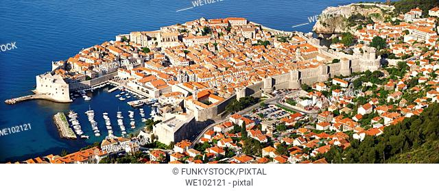 Arial view of Dubrovnik old town - Croatia
