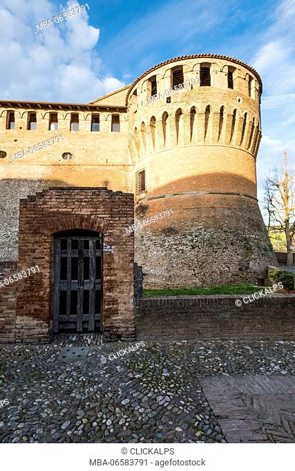 Dozza, Bologna, Emilia Romagna, Italy, Europe, The tower of a medieval fortress