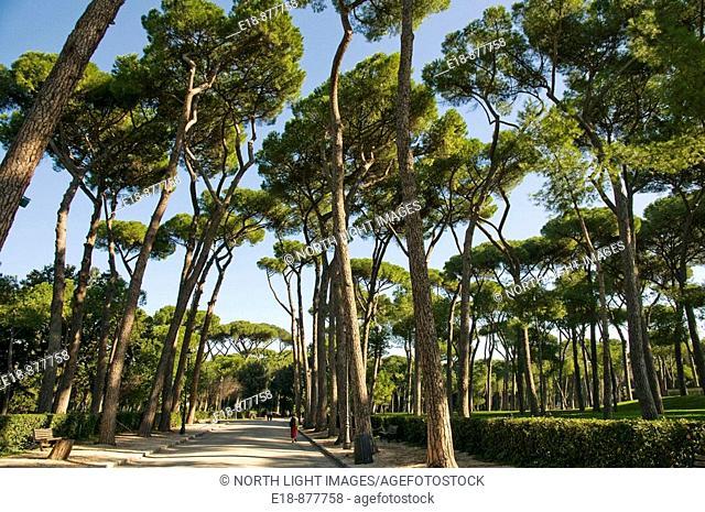 Italy, Rome, Villa Borghese Gardens.  Home to the Galleria Borghese