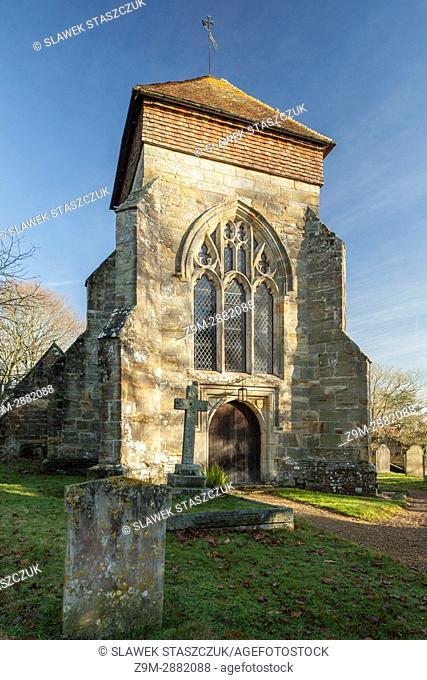 Parish church in Penhurst, East Sussex, England