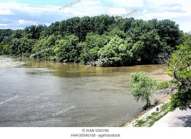 Confluence of the Danube and Morava rivers, Devin, Bratislava, Slovakia