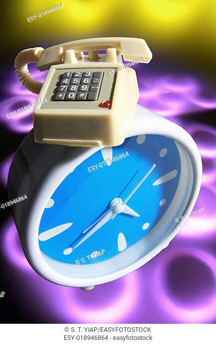 Miniature Phone and Bedside Clock