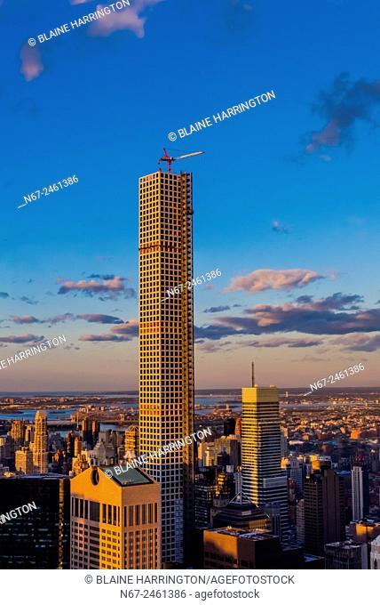 Skyscraper under construction in Manhattan, New York, New York USA