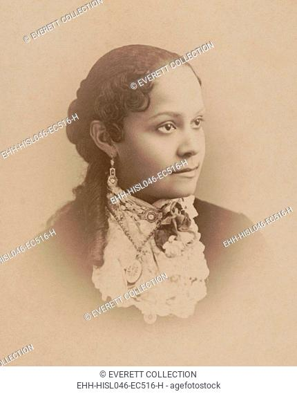 Fannie Barrier Williams, African American educator, and womens rights advocate, c. 1885. Photo by Paul Tralles. At the age of 15