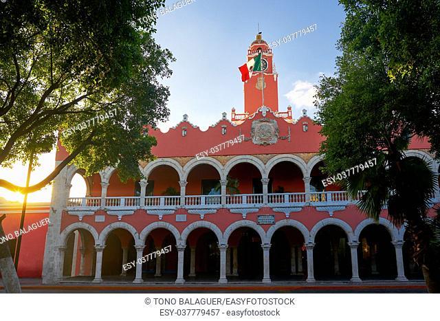 Merida city Town hall of Yucatan in Mexico