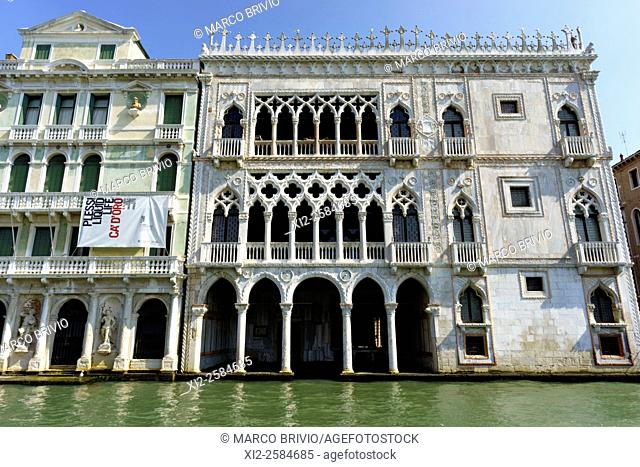 Ca' d'Oro (correctly Palazzo Santa Sofia) is a palace on the Grand Canal in Venice, northern Italy. One of the older palaces in the city