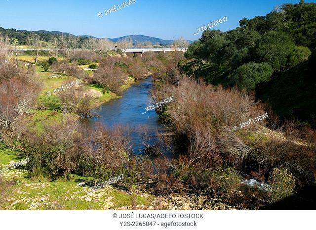 Chanza River, Water, Rosal de la frontera, Huelva province, Region of Andalusia, Spain, Europe