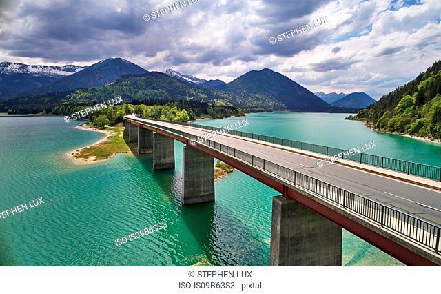 Sylvenstein Dam, Karwendel Mountains, Bavaria, Germany