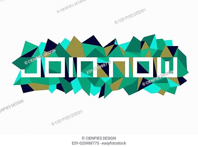 Fashion join now geometric design