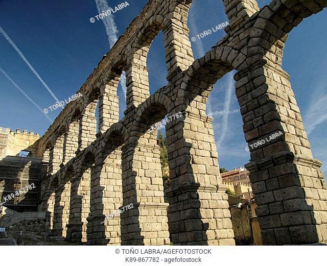 Acueducto Romano. Segovia. Castilla y León. España