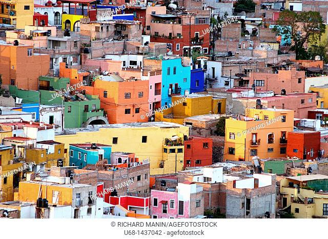 Guanajuato city listed as World Heritage by UNESCO, Mexico
