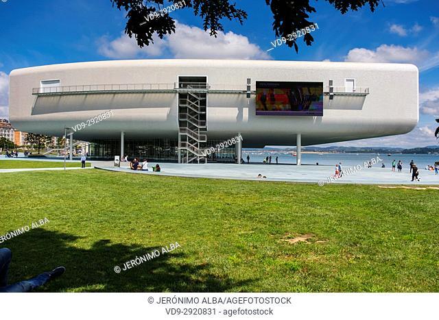 Botin Center Museum Art and Culture. Botin Foundation, architect Renzo Piano. Santander, Cantabrian Sea, Cantabria, Spain, Europe