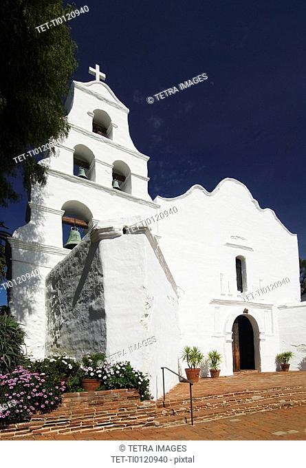 Entrance of church, Mission San Diego de Alcala, San Diego, California, United States