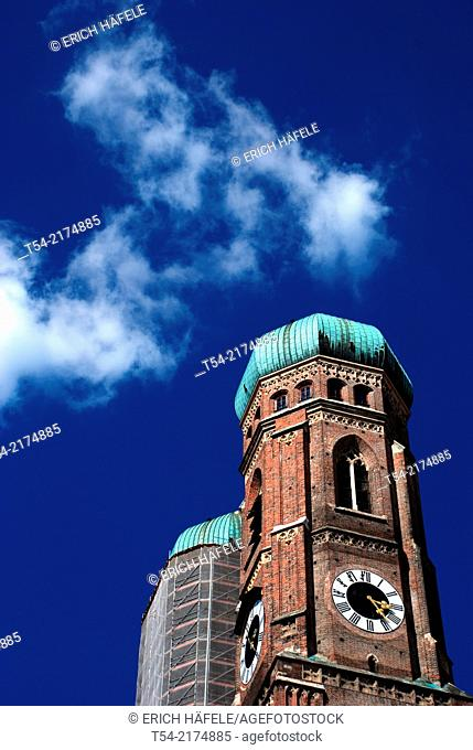 The towers of the Frauenkirche in Munich