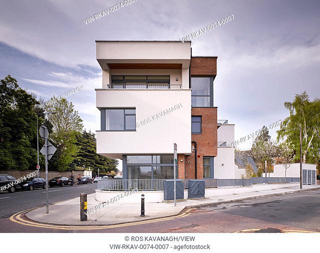 Exterior view showing balcony. Rathmines Crescent, Rathmines, Ireland. Architect: Dubliin City Architects, 2016