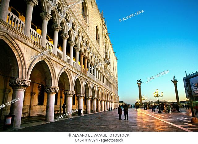 Palazzo Ducale, St  Mark´s Square piazza San Marco, Venice, Veneto, Italy