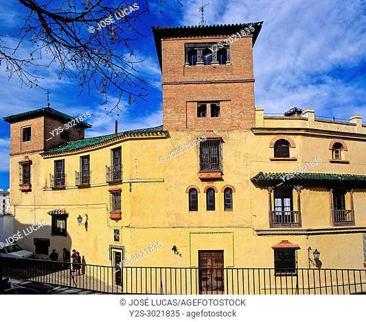 The House of Moorish King - facade, Ronda, Malaga province, Region of Andalusia, Spain, Europe