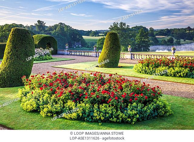 View from the terrace of Bowood House in Wiltshire