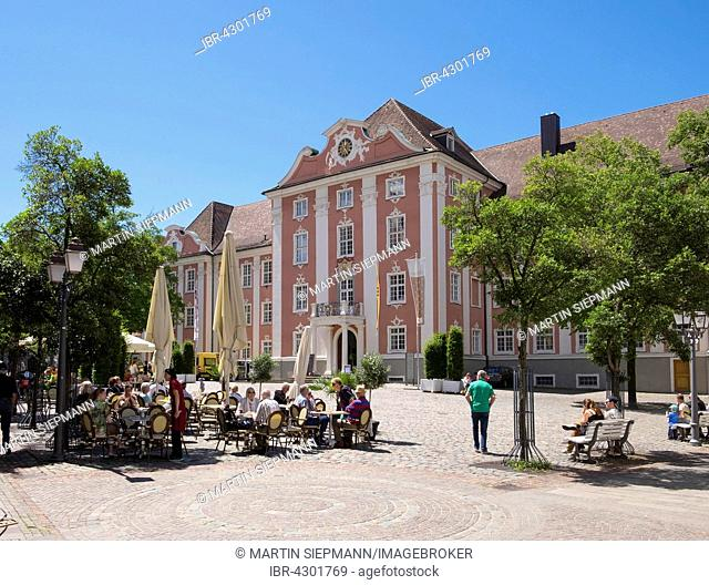 Neues Schloss or New Castle, Schlossplatz, Meersburg, Lake Constance, Bodenseekreis, Upper Swabia, Baden-Württemberg, Germany