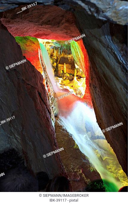 Stalactite cave Cova de Can Marca near Port de San Miquel on Ibiza
