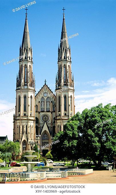 Brazil, South America  Cathedral of the city of Santa Cruz do Sul