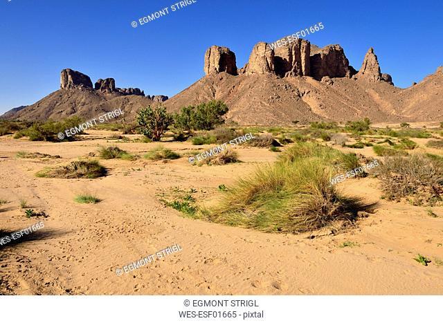 Algeria,Tassili N'Ajjer National Park, Oued, Wadi Essendilene