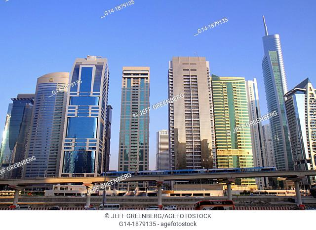 United Arab Emirates, U A E , UAE, Middle East, Dubai, Jumeirah Lake Towers Metro Station, Red Line, Lake City Tower, Global Lake View, Almas Tower