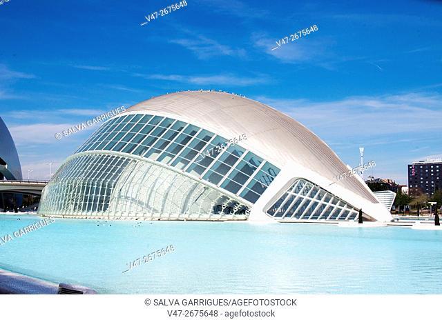 Hemisferic, City of Arts and Sciences, Valencia, Spain, Europe