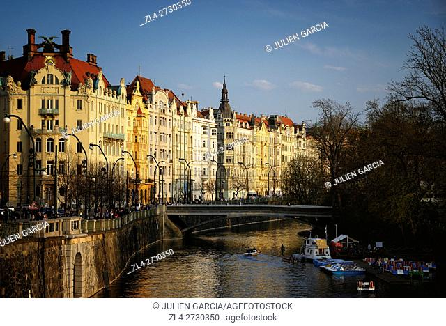 Czech Republic, Prague, historic centre listed as World Heritage by UNESCO, the Old Town (Stare Mesto), the Vltava River