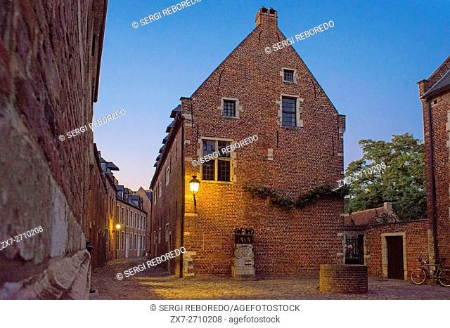 Terraced houses of the large Beguinage of Leuven, Belgium. Great Beguinage, in Leuven, Belgium