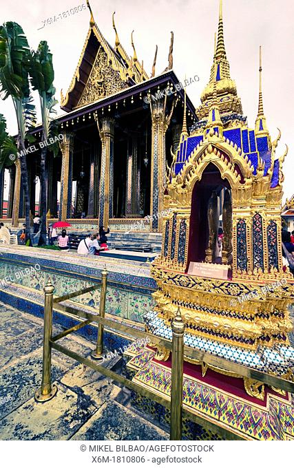 Wat Phra Kaew or Temple of the Emerald Buddha  Grand Palace  Bangkok, Thailand