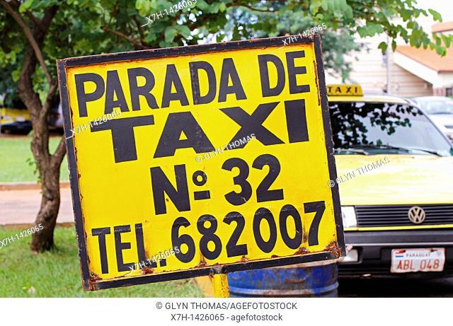 Taxi rank, Asunción, Paraguay