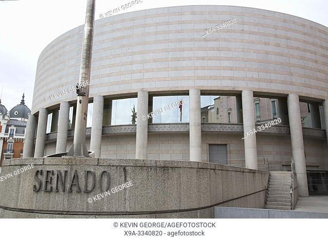 Senado - Senate Building in Madrid; Spain