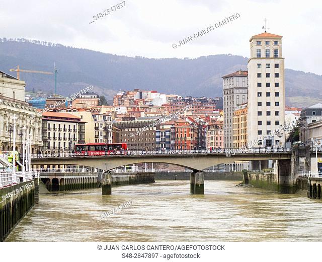 Puente de El Arenal. Bilbao. Vizcaya. Basque Country. Spain. Europa