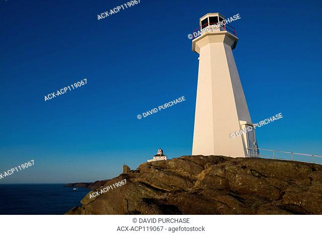 Watching Sunrise. Cape Spear Lighthouse National Historic Site, the easternmost point in Canada, and North America. (52°37'W) St