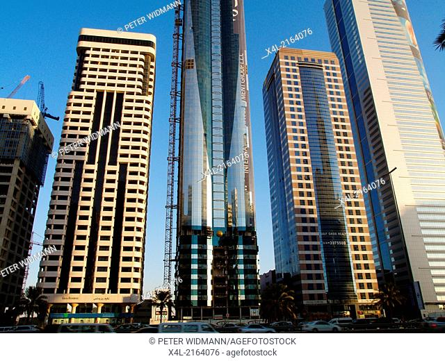 Dubai, Sheik Zayed Road, modern skyline, United Arab Emirates