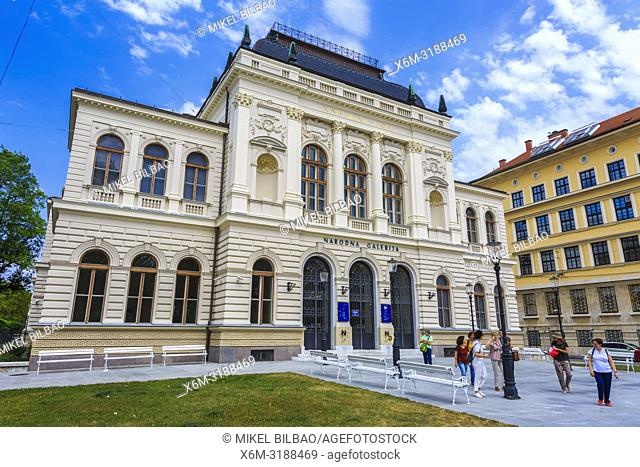 Facade. National Gallery of Slovenia. Ljubljana. Slovenia, Europe
