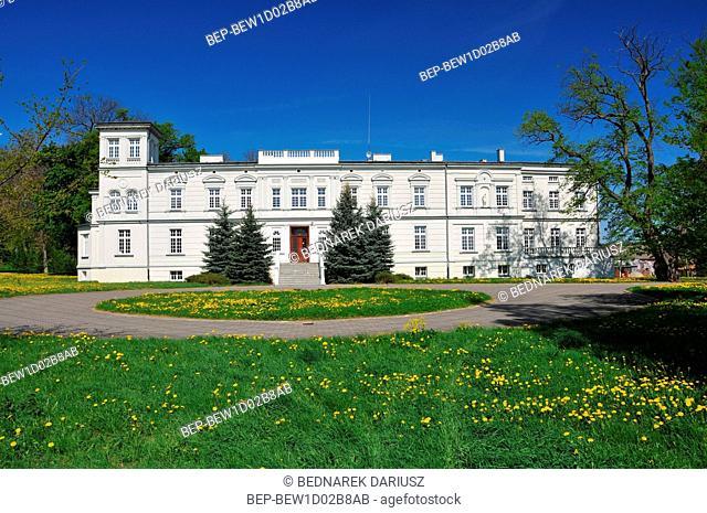 A neo-renaissance palace from the 19th century, rebuilt in 1922. Koszewko, West Pomeranian Voivodeship, Poland