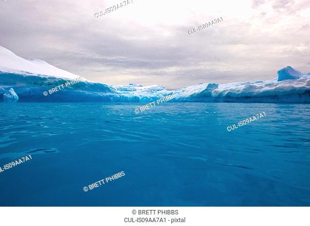 Iceberg, ice floe in the Southern Ocean, 180 miles north of East Antarctica, Antarctica