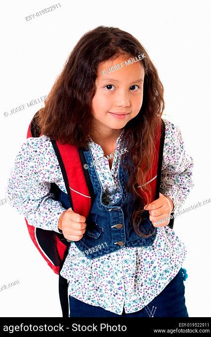 Mädchen mit Schultasche