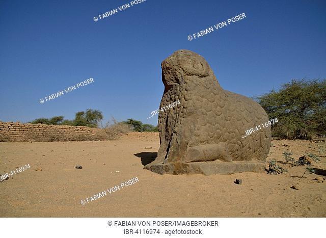 Ram sphinx in the royal city of Meroe, Nubia, Nahr an-Nil, Sudan