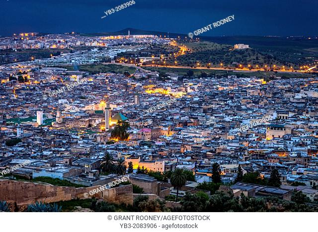 A View of The Medina (Old City) Fez, Morocco
