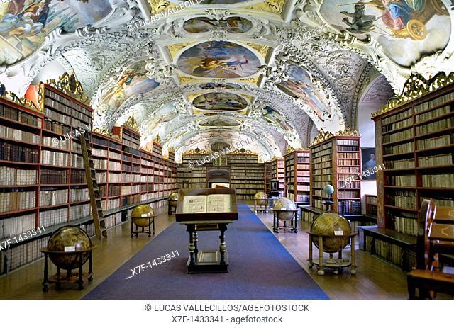 Kloster Strahov, theologische Bibliothek Prague  Czech Republic
