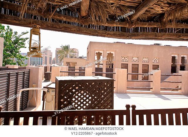 Traditional Arabic house, Typical house decorations in former home of Sheikh Juma Al Makhtoum, Dubai