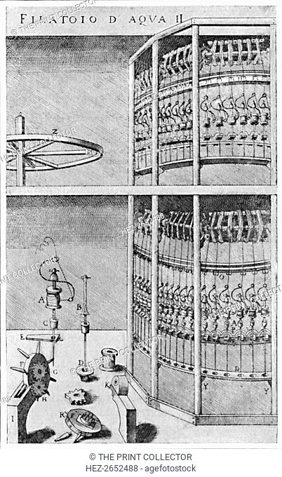 'A Silk-Spinning Mill', 1607, (1904). From Social England, Volume V, edited by H.D. Traill, D.C.L. and J. S. Mann, M.A. [Cassell and Company, Limited, London