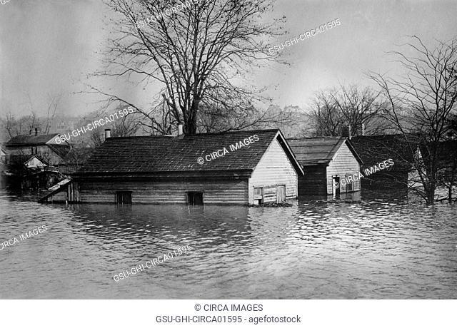 Flood, Cincinnati, Ohio, USA, Bain News Service, circa 1913