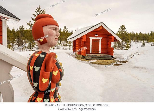 Statue at Kakslauttanen Hotel, Lapland, Finland